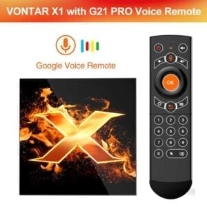 2020 VONTAR X1 Smart Tv Box Android 10 4G 64Gb 4K 1080P 2.4G & 5 wifi BT5.0 Google Voice Trợ Lý Youtube TVBOX Set Top Box