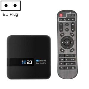 H20 4K Ultra HD Smart TV BOX Android 10.0 Media Player với Điều khiển từ xa, Quad-core, RAM: 2GB, ROM: 16GB