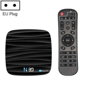 H30 4K Ultra HD Smart TV BOX Android 10.0 Media Player wtih Remote Control, Quad-core, RAM: 4GB, ROM: 32GB