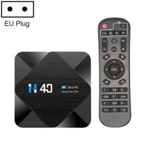 H40 4K Ultra HD Smart TV BOX Android 10.0 Media Player với Điều khiển từ xa, Quad-core, RAM: 4GB, ROM: 64GB