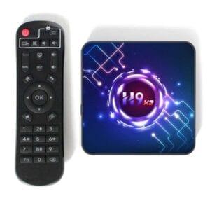 H9-X3 8K HDR Smart TV BOX Android 9.0 Media Player với Điều khiển từ xa, Quad Core Amlogic S905X3, RAM: 4GB, ROM: 64GB, WiFi 2.4GHz / 5GHz, Bluetooth