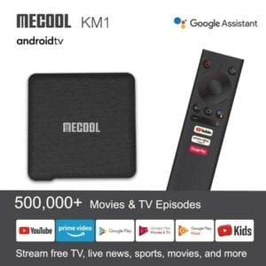MECOOL KM1 4K Ultra HD Smart Android 9.0 Amlogic S905X3 TV Box with Remote Controller, 2GB + 16GB, Hỗ trợ Dual Band WiFi 2T2R / HDMI / TF Card / LAN