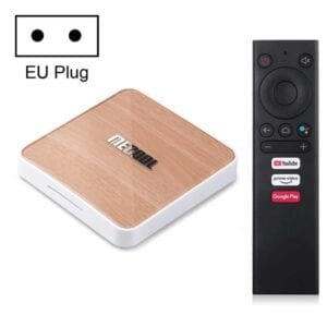 MECOOL KM6 4K Smart TV BOX Android 10.0 Media Player với Điều khiển từ xa, Amlogic S905X4 Quad Core ARM Cortex A55, RAM: 4GB, ROM: 64GB, Hỗ trợ WiFi, Bluetooth, Ethernet
