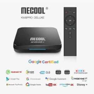 MECOOL KM9 Pro 4K Ultra HD Smart Android 10.0 Amlogic S905X2 TV Box với bộ điều khiển từ xa, 4GB + 32GB, Hỗ trợ WiFi / HDMI / Thẻ TF / USBx2