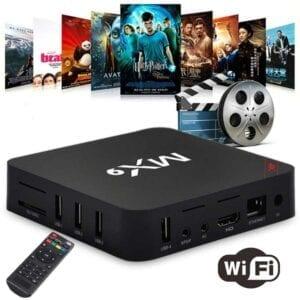 MX9 4K TV Box Android 10.0 Media Player với Điều khiển từ xa, Rockchip RK3229 Quad Core ARM Cortex-A7, 2GB + 16GB, 5G WiFi / Ethernet / TF / USB