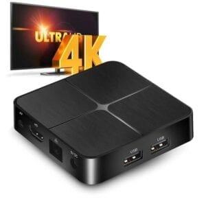 T96mini 4K TV Box Android 9.0 Media Player, Rockchip RK3229 Quad-Core, 2GB + 16GB, Ethernet / USB