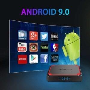 X96 mini + 4K Smart TV BOX Android 9.0 Media Player với Điều khiển từ xa, Amlogic S905W4 Quad Core ARM Cortex A53 lên đến 1.2GHz, RAM: 2GB, ROM: 16GB, 2.4G / 5G WiFi, HDMI, TF Card, RJ45, EU Plug