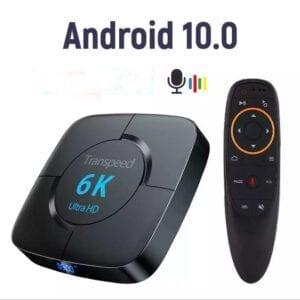Transpeed Android 10.0 Bluetooth TV Box Google Voice Trợ Lý 6K 3D Wifi 2.4G & 5.8G 4GB RAM 64G Play Store Rất Nhanh BoxTop Hộp