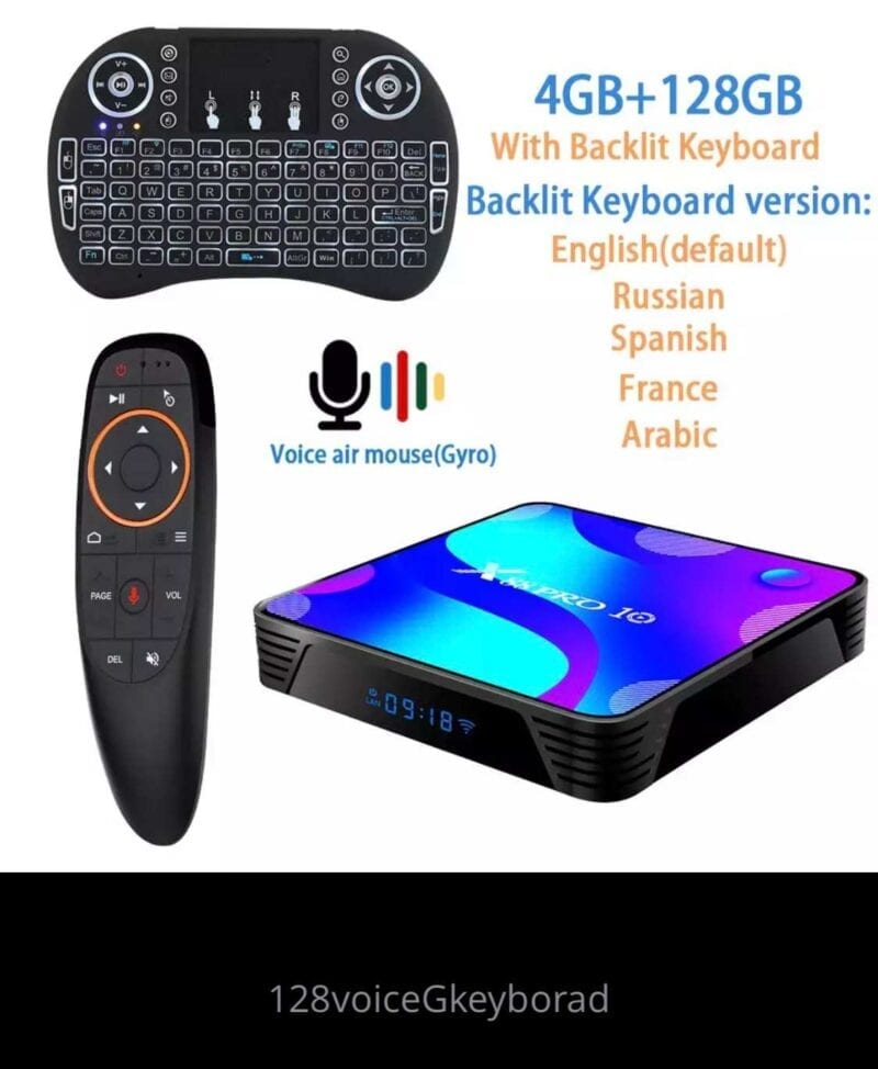 VONTAR X3 4GB 128GB 8K Tivi BOX Android Thông Minh 9 Android TVBOX 9.0 Amlogic S905X3 Wifi 1080P BT 4K Set Top Box 4GB 64GB 32GB