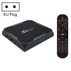 Hộp TV thông minh X96 max + 4K với Điều khiển từ xa, Android 9.0, Amlogic S905X3 Quad-Core Cortex-A55,2GB + 16GB, Hỗ trợ LAN, AV, 2.4G / 5G WiFi, USBx2, Thẻ TF