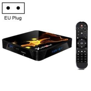 X99 Max + 8K Smart TV Box, Android 9.0, Amlogic S905X3 Quad-Core Cortex-A55,4GB + 32GB, Hỗ trợ LAN, HDMI, 2.4G / 5G WiFi, USBx2, Thẻ TF
