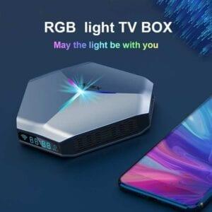 A95X F4 8K UHD Smart TV BOX Android 10.0 Media Player với Điều khiển từ xa, Amlogic S905X4 Quad Core Cortex-A55 lên đến 2.0GHz, RAM: 4GB, ROM: 128GB, WiFi 2.4GHz / 5GHz, Bluetooth, EU Plug
